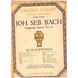 Bach, J. S.: Englische Suiten No. 6. Klavierwerke