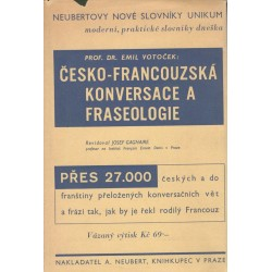 Prof. Dr. Votoček, E.: Česko-francouzská konversace a fraseologie