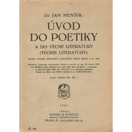 Menšík, J.: Úvod do poetiky
