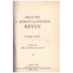Karásek ze Lvovic, J. (ed.): Okultní a spiritualistická revue, roč. 4.
