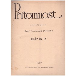 Peorutka, F. (red.): Přítomnost, roč. IV., 1927