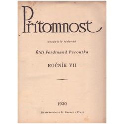 Peroutka, F. (red.): Přítomnost, roč. VII., 1930