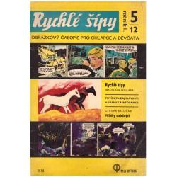 Rychlé šípy č. 5/12, ročník II. (1970)