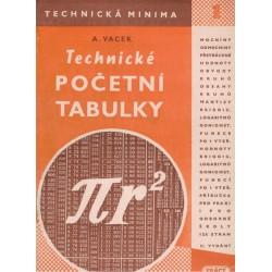 VAcek, A.: Technické početní tabulky