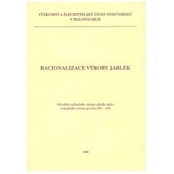 Staněk, J. a kol.: Racionalizace výroby jablek