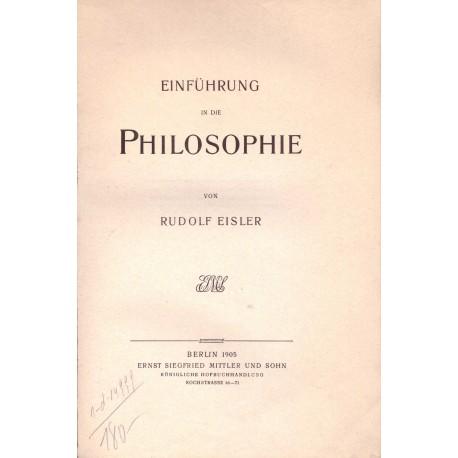 Eisler, R.: Einführung in die Philosophie