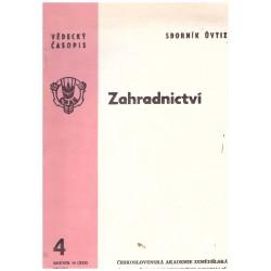 Mareček, F. a kol.: Sborník ÚVTIZ, Zahradnictví 4, ročník 16, prosinec 1989