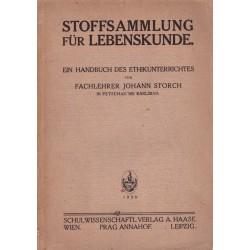 Storch, J.: Stoffsammlung für Lebenskunde