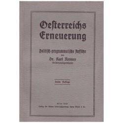 Renner, K.: Oesterreichs Erneuerung. Politisch-programmatische Aufsätze