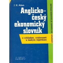 Adam, J. H.: Anglicko-český ekonomický slovník s výkladem, výslovností a českým rejstříkem