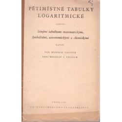 Valouch, M., Valouch, M. A.: Pětimístné tabulky logaritmické