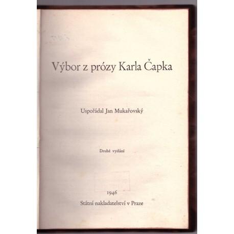 Mukařovský J.: Výběr z prózy Karla Čapka